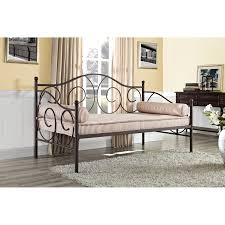 Metal Daybed With Trundle Dhp Victoria Metal Daybed Hayneedle