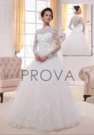 robe de mari e pas cher princesse robe de mariée princesse à manche longue tout en dentelle