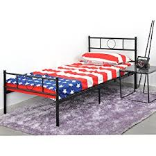 amazon com greenforest twin size bed frame stable metal slat