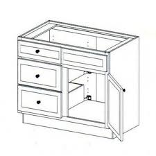 36 base kitchen cabinet with 3 drawers vanity sink base cabinet with 3 drawers left 36