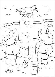 kids fun 15 coloring pages babar elephant