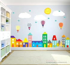 Wall Decor Stickers For Nursery Wall Decor Boys Room City Wall Decals Wall Decals Nursery Nursery