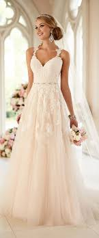 dusty wedding dress 33 chic a line wedding dresses that wow weddingomania
