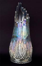 White Glass Vase Vintage Vintage Dugan Target Marigold Carnival Glass Vase Ebay F Dugan