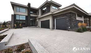 the exterior of this house is stunning is the stone black river