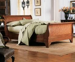 Cherry Wood Sleigh Bed Chambord Cherry U0026 Makore Sleigh Bed Charles P Rogers Beds