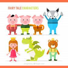 imagenes infantiles trackid sp 006 ilustración de personajes de cuentos infantiles descargar vectores