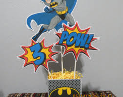 batman centerpieces batman centerpiece etsy