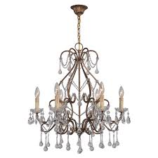 Indoor Chandeliers World Imports Grace Collection 6 Light Antique Gold Indoor