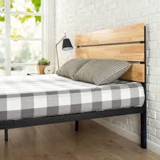 King Platform Bed With Headboard Bed Frames King Platform Bed With Headboard Wood Platform Bed