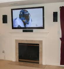 tv wall mount above fireplace ideas stone brick fireplaces ation