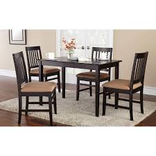 walmart dining table chairs mainstays 5 piece dining set with rich espresso finish walmart com