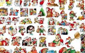 46 lovely christmas vector illustration background material