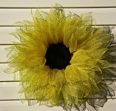 sunflower mesh wreath sunflower deco mesh wreath deco mesh sunflower wreath mesh