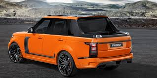 orange range rover range rover u003e range rover pickup startech bentley land rover