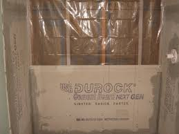 conventional shower construction with durock cement board and 6