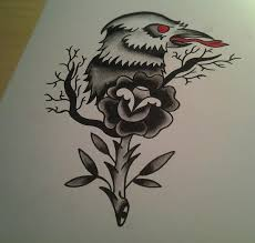 crow tattoo design by genotas on deviantart