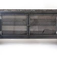 Metal Media Cabinet Handmade Rolling Steel Media Cabinet Industrial Occasional Table
