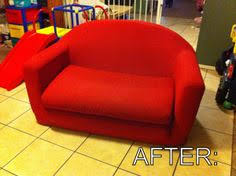 Painting Fabric Upholstery Repurposed Glider Rocker Using