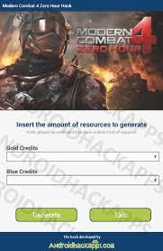 modern combat zero hour apk modern combat 4 zero hour hack apk gold credits and blue credits