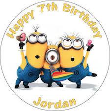 minion party despicable me minion party edible birthday cake topper