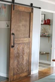 How To Hang A Barn Door by Dude I Built A Herringbone Barn Door Bower Power