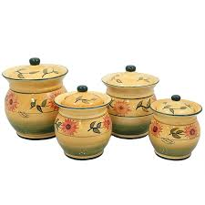 4 Piece Kitchen Canister Sets by Sunflower Canister Sets Kitchen Creepingthyme Info