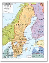 map of sweden political map of sweden