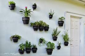 Wall Mounted Planters by Our Red Door Back Yard Wall Planters