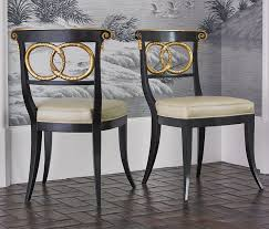 Gold Dining Chairs Dallas Designer Furniture Dolphin Dining Chair In Blackgold