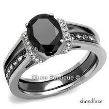 stainless steel wedding sets 7 best women s stainless steel wedding ring sets images on