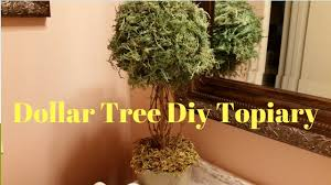 Lighted Topiary Trees Dollar Tree Diy Topiary Youtube