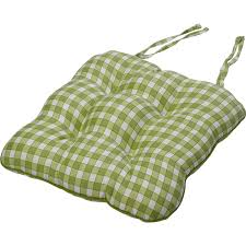 gingham check cotton seat pad 14