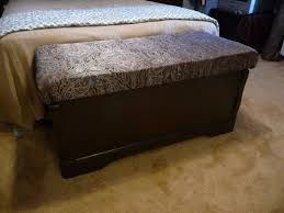 Cushioned Storage Bench Adventures In Domesticity Cedar Chest To Cushioned Storage Bench