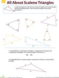 naming triangles worksheet different triangles education