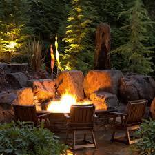 Rustic Firepit Pit Design And Installation Spokane Bellevue Alderwood