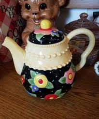 engelbreit miniature teapot ornament tiny flowers nib