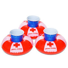 amazon com gofloats inflatable drink guard drink holder 3 pack