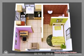 facelift 3d isometric views small house plans kerala home