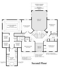 2nd floor plan greenville overlook the duke home design