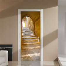 28 adhesive wall mural new 1m wall stickers mural decal adhesive wall mural 200x77cm 3d creative stairs passage pvc self adhesive door
