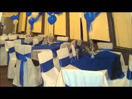 balloon decorations royal blue sweet 16 youtube