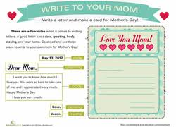 2nd grade mother u0027s day worksheets u0026 free printables education com
