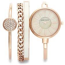 anne klein bracelet set images Anne klein anne klein rose gold tone watch and bracelet set jpeg