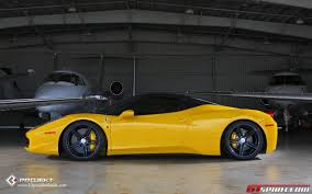 Ferrari 458 Top Speed - yellow ferrari 458 italia on k3 projekt wheels gtspirit