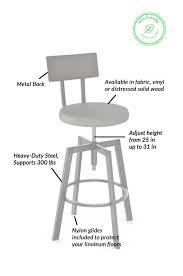 Adjustable Bar Stool With Back Buy Amisco U0027s Wood U0026 Metal Architect Screw Stool U2022 Barstool Comforts