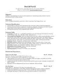 java developer resume objective resume for study