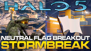 warzone maps halo 5 gameplay breakdown march on stormbreak neutral flag