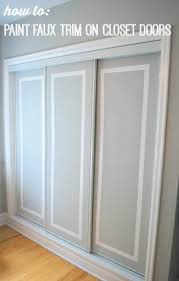 Cheap Closet Doors Painted Sliding Closet Doors Faux Trim Effect The Sweetest Digs