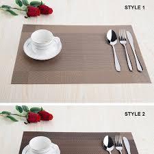 top finel 2016 8pcs lot pvc plaid vinyl placemats for dining table